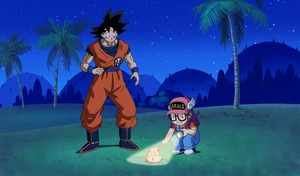 "Son Goku i Aralka w ""Dragon Ball Super"""